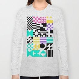 RAND PATTERNS #140: Procedural Art Long Sleeve T-shirt