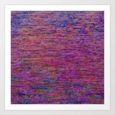 23-02-45 (Pink Lady Glitch) Art Print