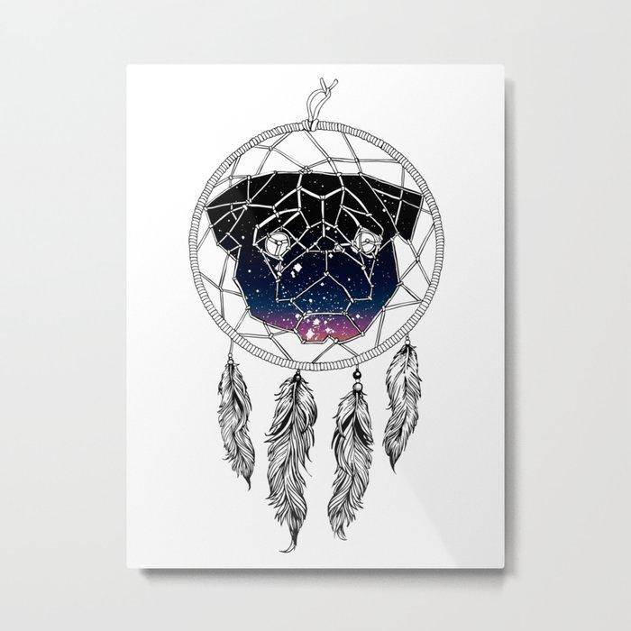 Dreamcather Pug Metal Print