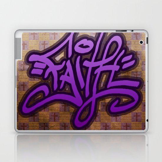 Faith (Graffiti) Laptop & iPad Skin