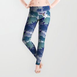 Macaw Canopy // Blue-Violet Leggings