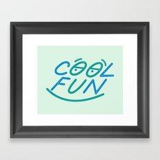 COOL FUN Framed Art Print