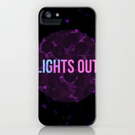 Bulbs Lights Out iPhone Case