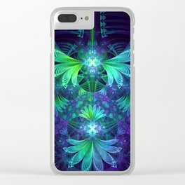 The Clockwork Kite Wings of a Blue-Green Dragonfly Clear iPhone Case