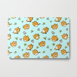 Kawaii Cats Metal Print