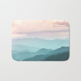 Smoky Mountain National Park Sunset Layers II - Nature Photography Bath Mat