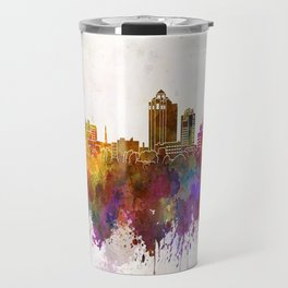 New Haven skyline in watercolor background Travel Mug