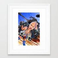 tank girl Framed Art Prints featuring Tank Girl  by Cecil Porter Studios