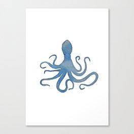 Watercolor Octopus by Lo Lah Studio Canvas Print