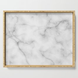 Real Marble Serving Tray