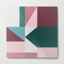 Modern Geometric 62 Metal Print