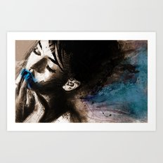 blue her out Art Print
