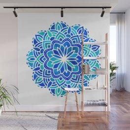 Mandala Iridescent Blue Green Wall Mural