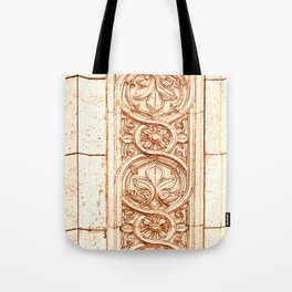 carved stonework Tote Bag