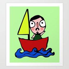 En bote Art Print
