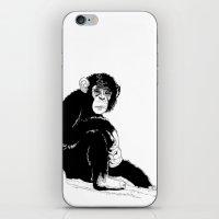 monkey iPhone & iPod Skins featuring Monkey by takmaj