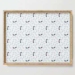 Cool Holly Pattern Serving Tray