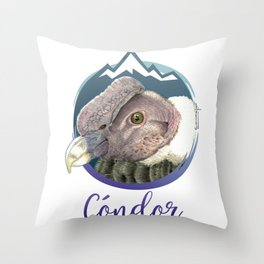 Cóndor Andino Throw Pillow