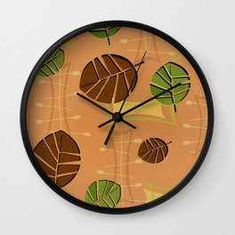 Tiki Bar Wallpaper Pattern Wall Clock