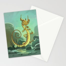 Goblins Drool, Fairies Rule! - Salamander Snoop Stationery Cards