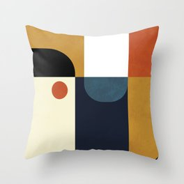 mid century abstract shapes fall winter 4 Throw Pillow
