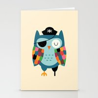 captain Stationery Cards featuring Captain Whooo by Andy Westface
