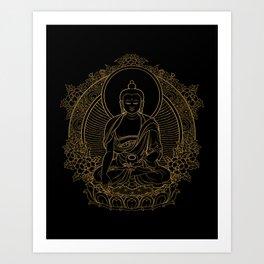 Buddha on Black Kunstdrucke