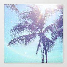 Sparkle Palms Canvas Print