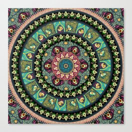 Avocado Yoga Medallion Canvas Print