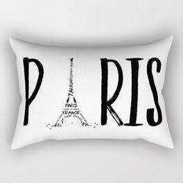 PARIS Typography Rectangular Pillow