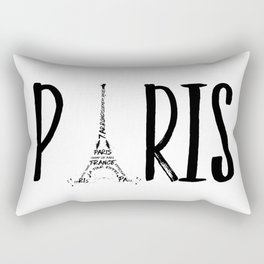 PARIS Typography Rectangular Pillow