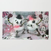 fight Area & Throw Rugs featuring Pillow Fight!!! by Chris Brett