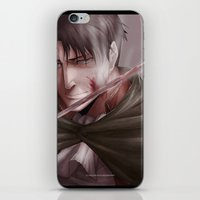 levi iPhone & iPod Skins featuring Shingeki no Kyojin - Levi by Paleblood