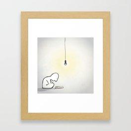 Late Night Reader Framed Art Print