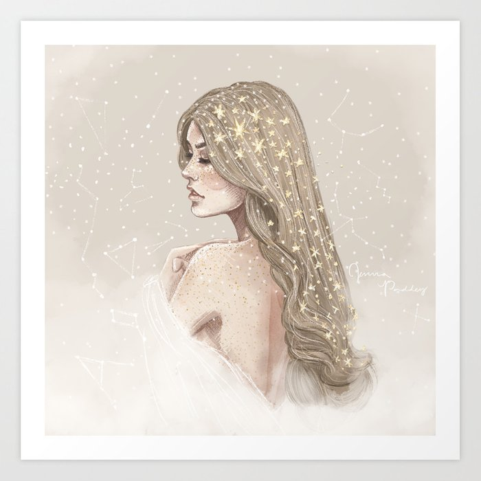 Stardust & Constellations print by Jenna Paddey