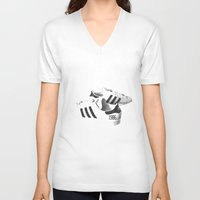popart V-neck T-shirts featuring PopArt by C R Clifton Art