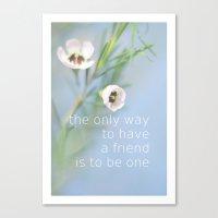 friendship Canvas Prints featuring Friendship by SUNLIGHT STUDIOS  Monika Strigel