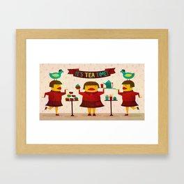 It's Tea Time! Framed Art Print