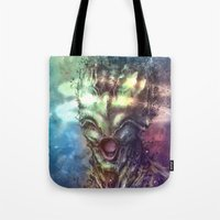 saturn Tote Bags featuring Saturn by Vincent Vernacatola