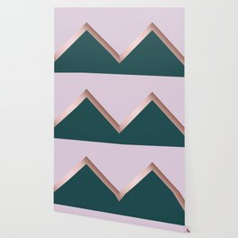 Rose gold, teal and purple Wallpaper