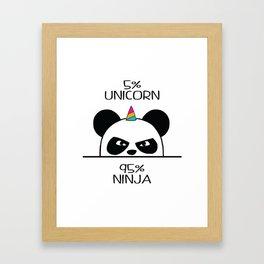 Unicorn Ninja Panda Framed Art Print