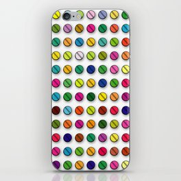 Multi-coloured Pills Pattern square iPhone Skin