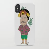 tim shumate iPhone & iPod Cases featuring Tim MAIA by Danyllo Franco