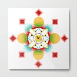 Atomic Ornament Metal Print