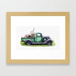 California or Bust II Framed Art Print