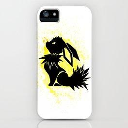 Jolteon Splash Silhouette iPhone Case