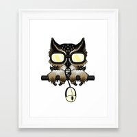 gaming Framed Art Prints featuring Gaming Owl by AneNj