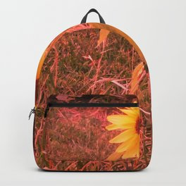 Red Tinted Sunflower Backpack