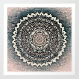 WARM WINTER MANDALA Art Print