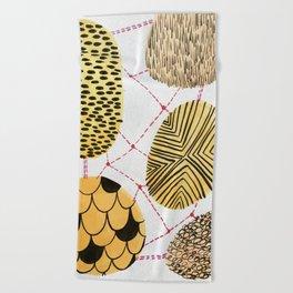 Honey Orbs Beach Towel